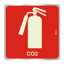 PLACA INDICA 16 X16 EXTINTOR CO2 - 1187
