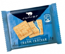 BISCOITO CREAM CRACKER 180 X 8 GR JUNIOR - 2497