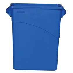 CESTO LIXO  SLIM JIM AZUL  RUBBERMAID - 2511
